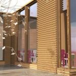 studio di scuola modulare in legno
